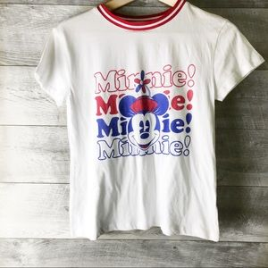 Disney minnie mouse short sleeve white tee shirt